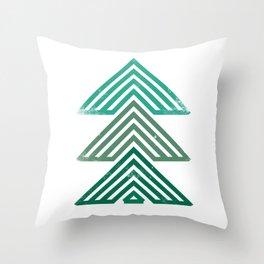 Mountain trees vintage Throw Pillow