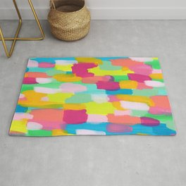 Meet Me In The Rainbow Woods - colorful abstract painting pattern Rug