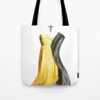 lesbian Tote Bags featuring Wedding dream. Lesbian thing by al bruzzone
