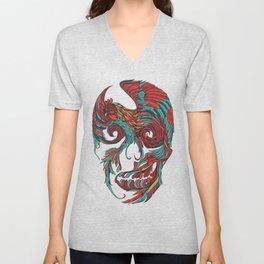 Rooster Skull Unisex V-Neck