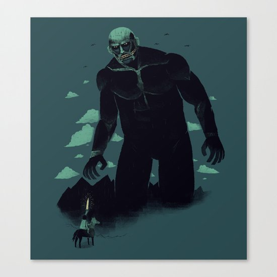shadow of the titan Canvas Print
