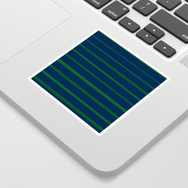 Slate Blue and Emerald Green Stripes Sticker