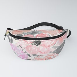 Elegant simple watercolor floral Fanny Pack