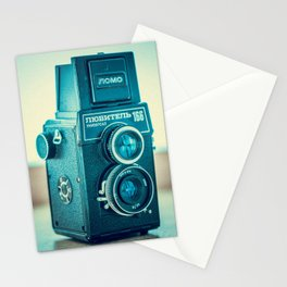 Vintage old film photo-camera  Stationery Cards