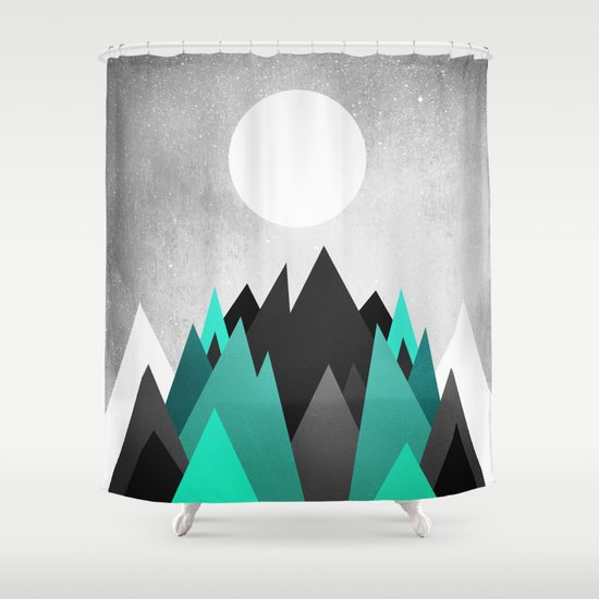 Cold Planet Shower Curtain