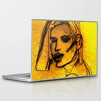 one line Laptop & iPad Skins featuring One Line by MRSCM Illustration