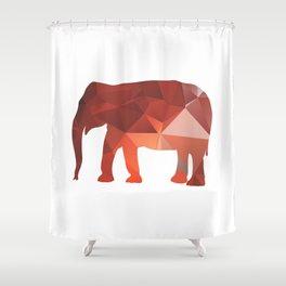Elephant - Red geomatric Shower Curtain