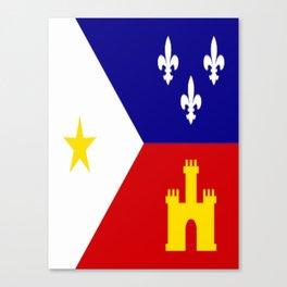 Acadiana Flag Canvas Print