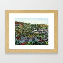 Pontypridd (featuring Sardis Road Rugby Ground) Framed Art Print