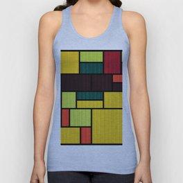 Mondrian Bauhaus Pattern #09 Unisex Tank Top