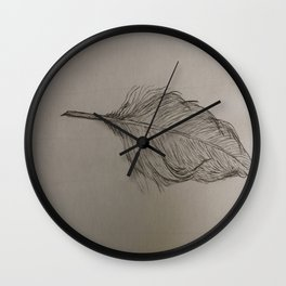Goose Feather Wall Clock