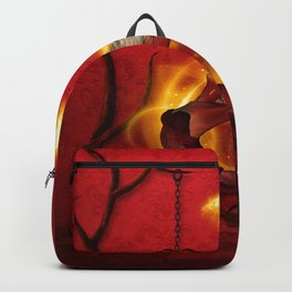 Wonderful fairy of fire with fire birds Backpack