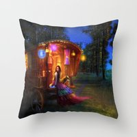 wanderlust Throw Pillows featuring Wanderlust by Aimee Stewart