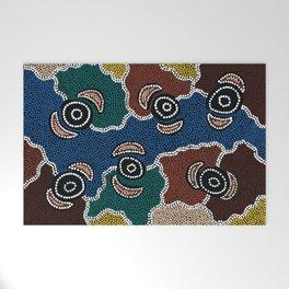 Authentic Aboriginal Art - Riverside Dreaming Welcome Mat