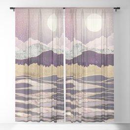 Lunar Waves Sheer Curtain