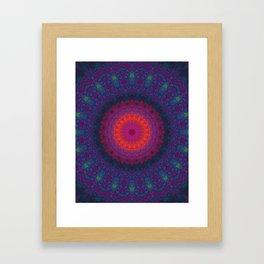 Lacy Mandala Framed Art Print