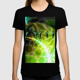 Dawn of Time – Abstract Lime & Gold Emerge T-shirt