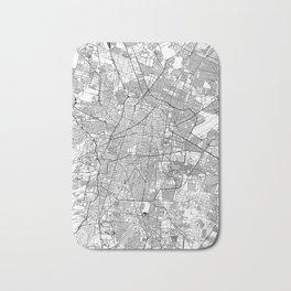 Mexico City White Map Bath Mat