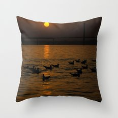 painting a golden picture...  Throw Pillow