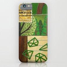 Nature Stamp Trees Wood Geometric Painting iPhone 6s Slim Case