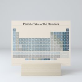 The Periodic Table of the Elements - Ocean on Sand Mini Art Print