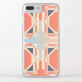 Med Squares Clear iPhone Case