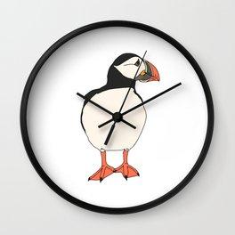 Atlantic Puffin looking sideways Wall Clock