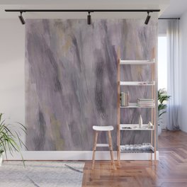 Touching Lavender Black Gold Watercolor Abstract #1 #painting #decor #art #society6 Wall Mural