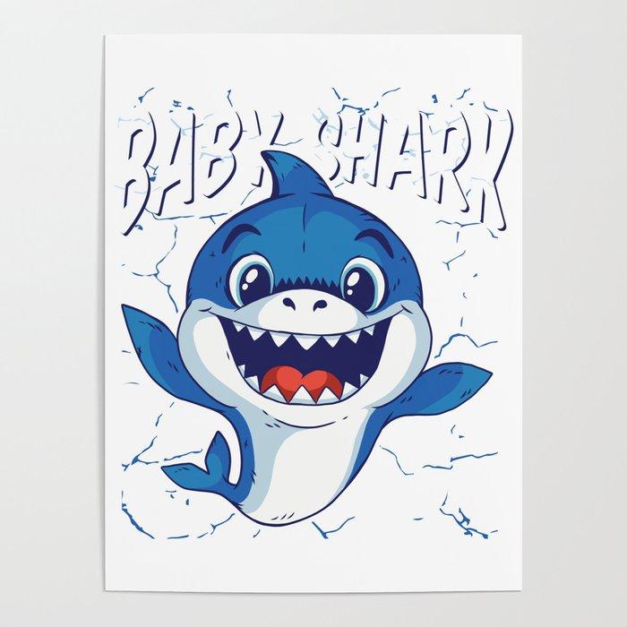Baby Shark Cute Funny Do Do Do Poster By Zippythread