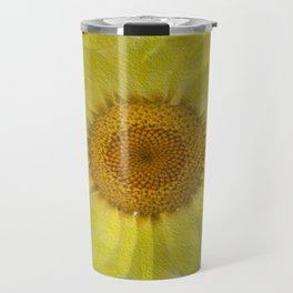 Sunny Day Daisy Floral Abstract Travel Mug