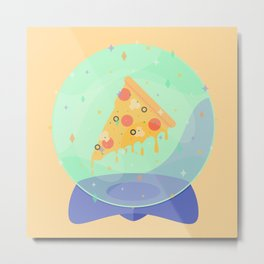 The Future is Pizza Metal Print