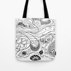 Geometric Stream Tote Bag