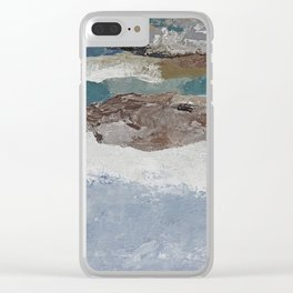 Rocky Shore Neutrals Abstract Clear iPhone Case
