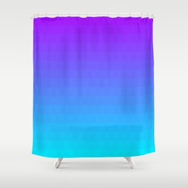 Blue and Purple Ombre - Flipped Shower Curtain