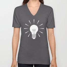 Light_Bulb Unisex V-Neck