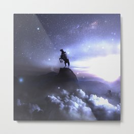 Whisper to the dark what you're up to ... Metal Print