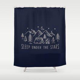 Sleep under the stars Shower Curtain
