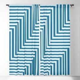 Bold Blue on Blue Zig Zag Blackout Curtain