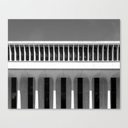 Architectural Notan - Robertson Hall, Princeton, NJ Canvas Print