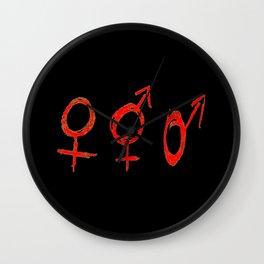 Symbol of Transgender 59 Wall Clock