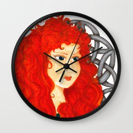 Brave Lass Wall Clock