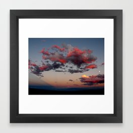Cotton Candy Sunset Full View Framed Art Print