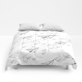 Paper Airplane 9 Comforters