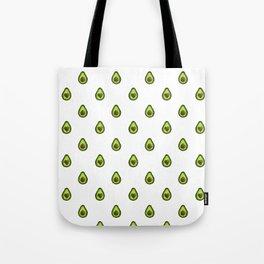 Avocado Hearts (white background) Tote Bag