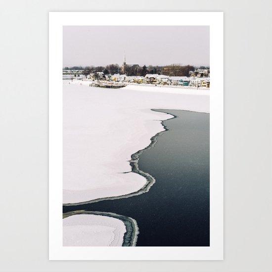 Frozen Ottawa River Art Print