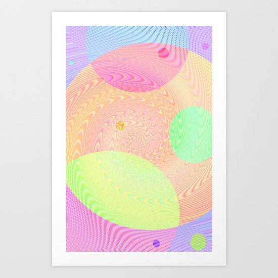 Re-Created Twisters No. 3 by Robert S. Lee Art Print