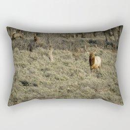 The Bull Elk Rectangular Pillow