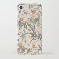 bedding iPhone & iPod Cases featuring Soft Vintage Rose Pattern by micklyn
