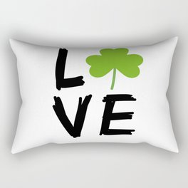 Love St Patricks Day Rectangular Pillow