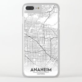 Minimal City Maps - Map of Anaheim, California, United States Clear iPhone Case